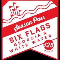 Both Six Flags Georgia and Six Flags White Water Season Pass badge